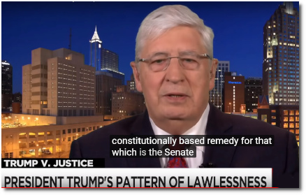 Walter Dellinger says that the Senate should be stepping up and providing a Constitutional check on Trump's persistent pattern of lawlessness (10 April 2019)