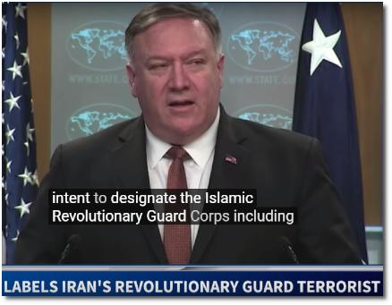 Pompeo announces unprecedented move to designate Iran's Revolutionary Guard as a terrorist organization (8 April 2019)