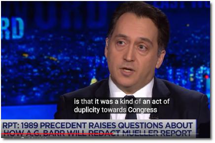 NYU Law professor Ryan Goodman describes Bill Barr's 1989 act of duplicity toward congress (15 April 2019)