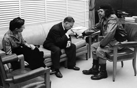 Che Guevara with Jean-Paul Sartre and Simone