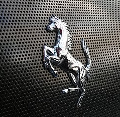 Ferrari stallion logo | Rear grille
