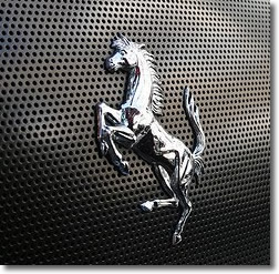 Ferrari horse logo - rear grille