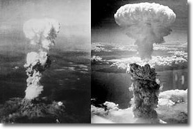 Hiroshima (left) & Nagasaki( right) Bomb Blasts