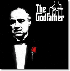 The Godfather by Mario Puzo starring Marlon Brando