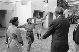 Mandela, First Encounter, photo by George Hallet