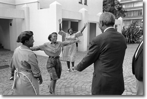 Mandela, First Encounter, photo by George Hallet