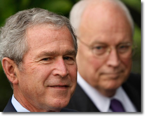 George W Bush and Five-Deferment Cheney