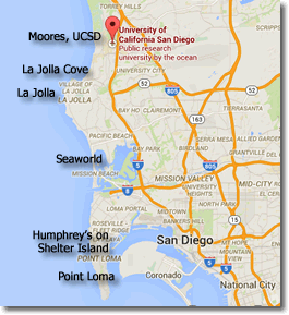 Google map of San Diego area