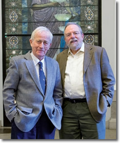 Professor Tayler and David Denby at Columbia University