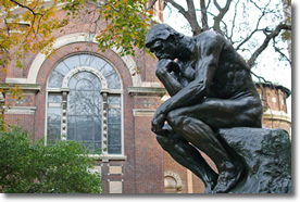 Rodin's The Thinker (Le Penseur) at Columbia University