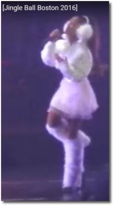 Ariana singing Dangerous Woman in Boston Dec 11, 2016
