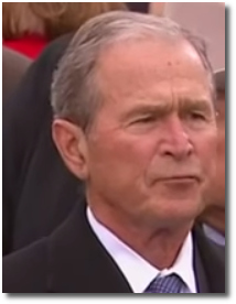 George Bush at Trump's inauguration Jan 20, 2017