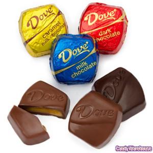 Dove chocolate mini squares