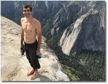 Alex Honnold (31) first ever free solo ascent of El Capitan in Yosemite June 3, 2017