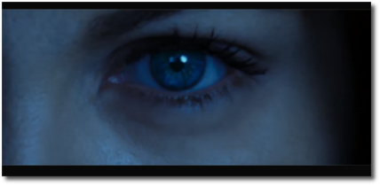 Selene's blue eye in Underworld 5 does not look scared