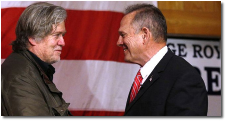Steve Bannon with Judge Roy Moore