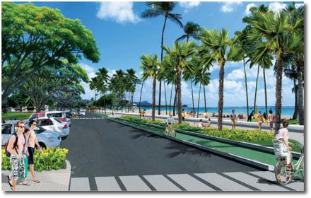 Ala Moana beach park Oahu, Hawaii